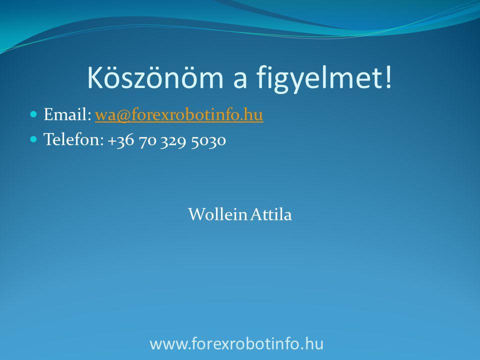 Köszönöm a figyelmet! www.forexrobotinfo.hu