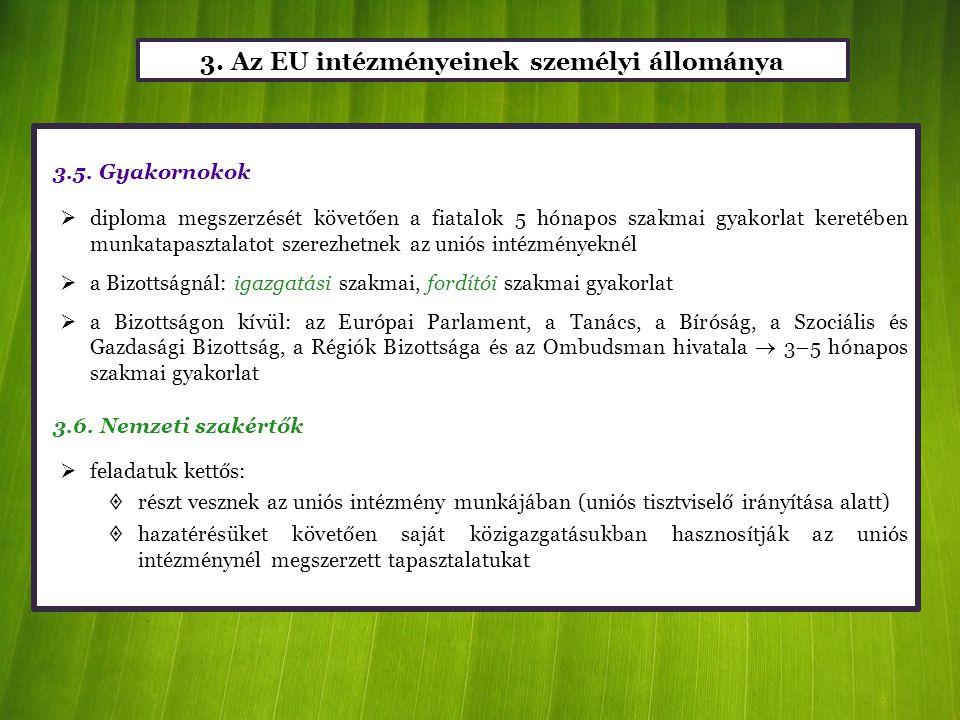 3. Az EU intézményeinek személyi állománya
