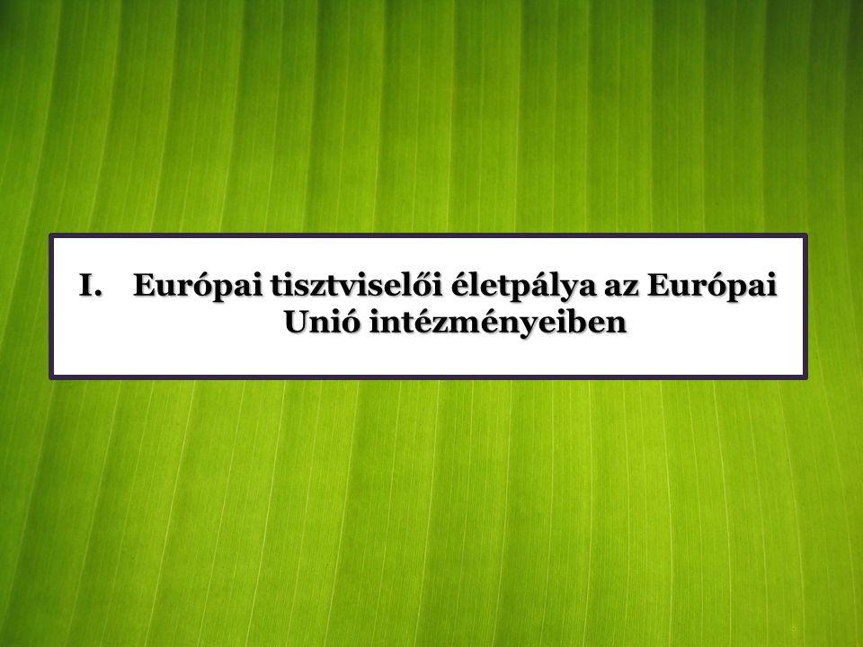 Európai tisztviselői életpálya az Európai Unió intézményeiben