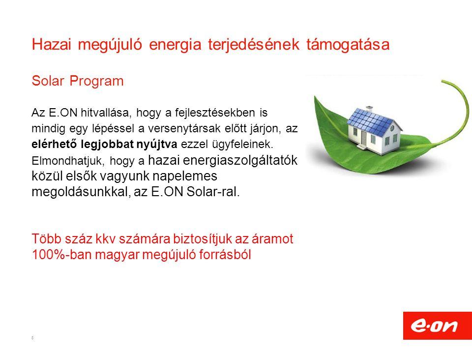 Hazai megújuló energia terjedésének támogatása