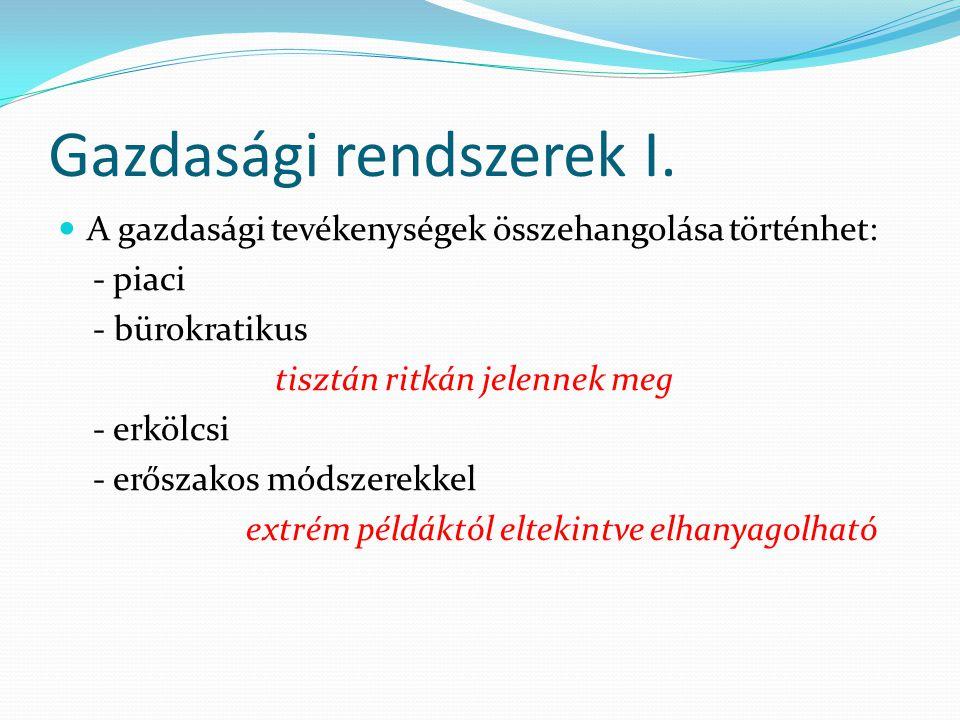 Gazdasági rendszerek I.