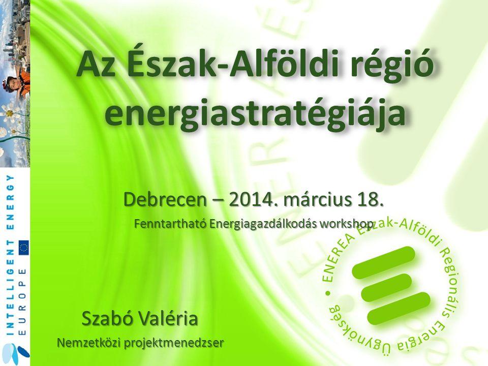 Az Észak-Alföldi régió energiastratégiája
