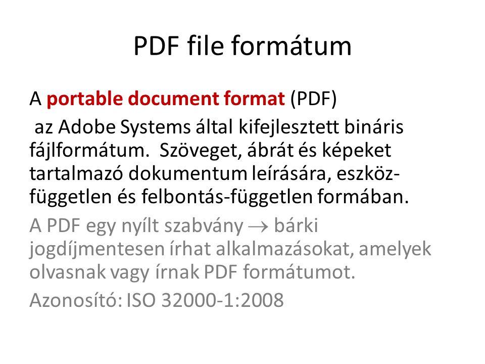 PDF file formátum