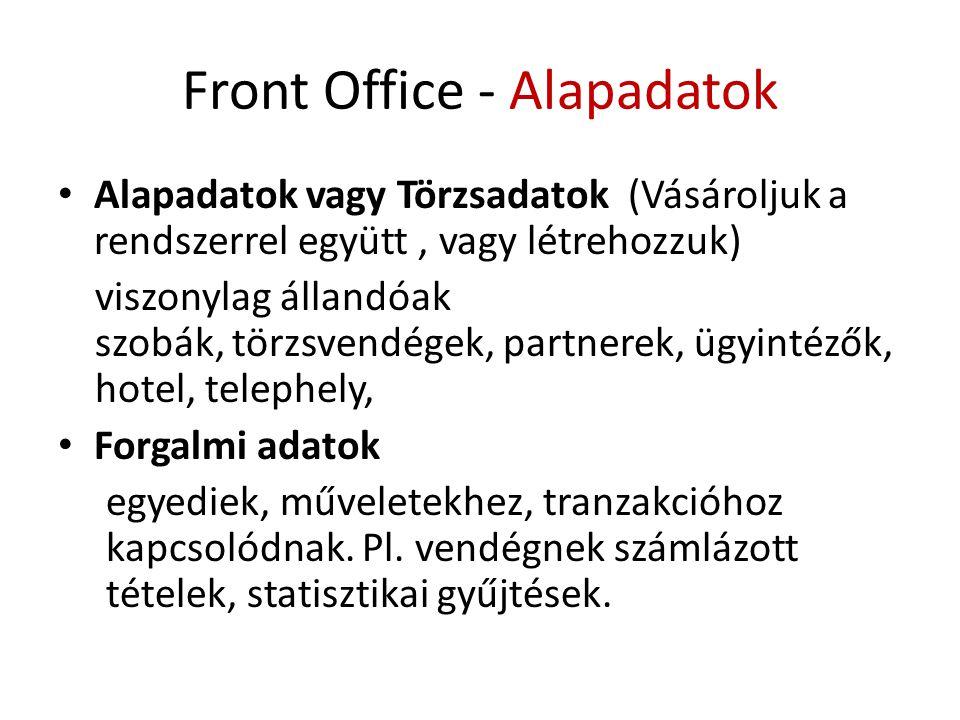 Front Office - Alapadatok