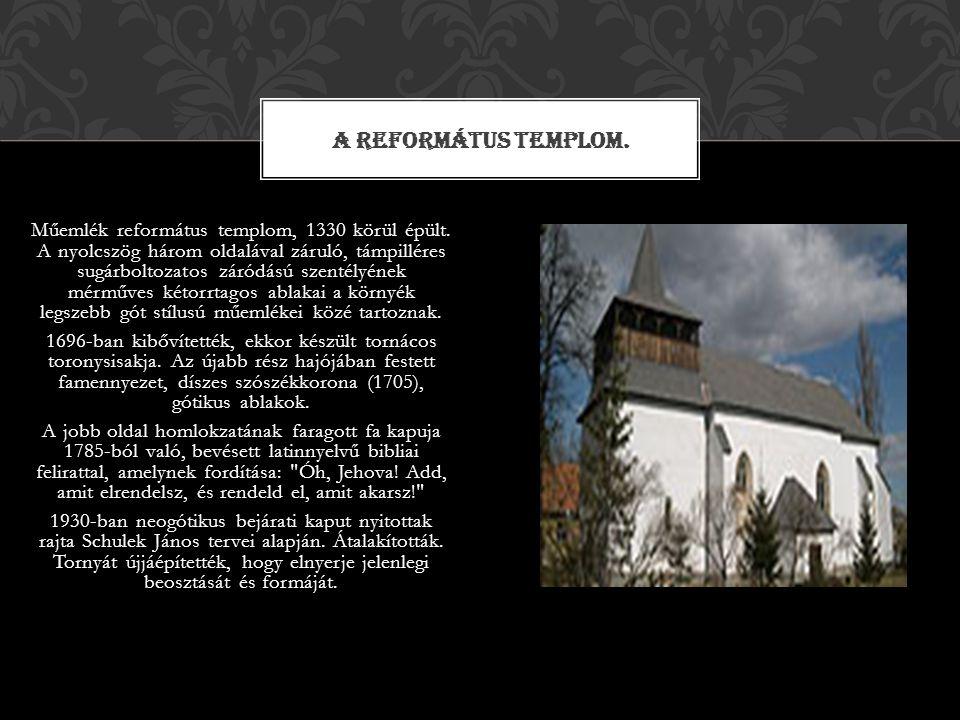 A Református templom.