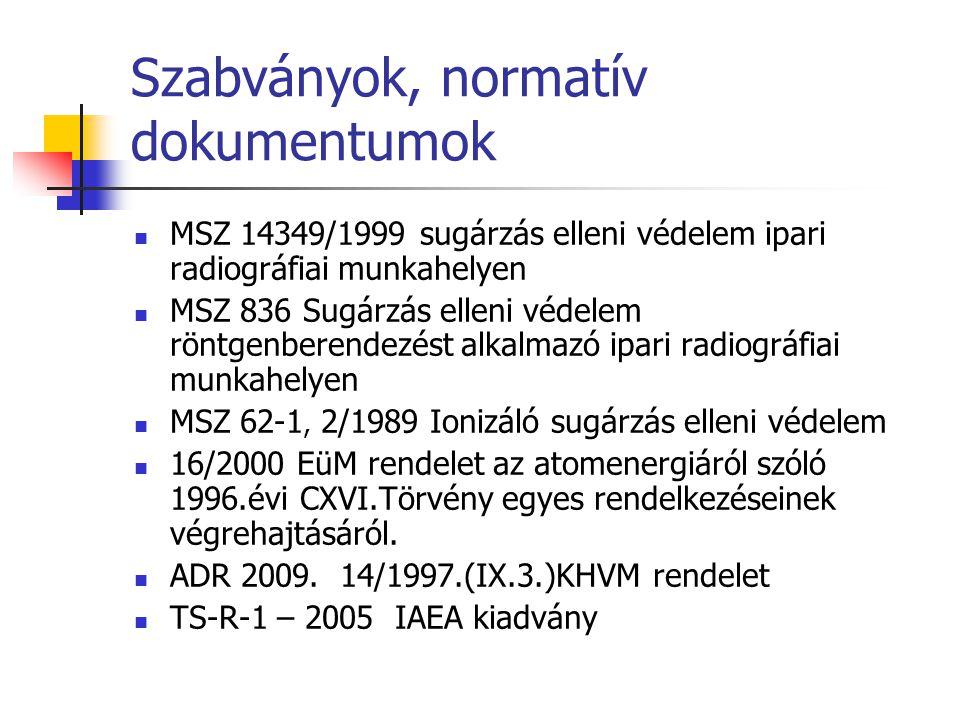 Szabványok, normatív dokumentumok