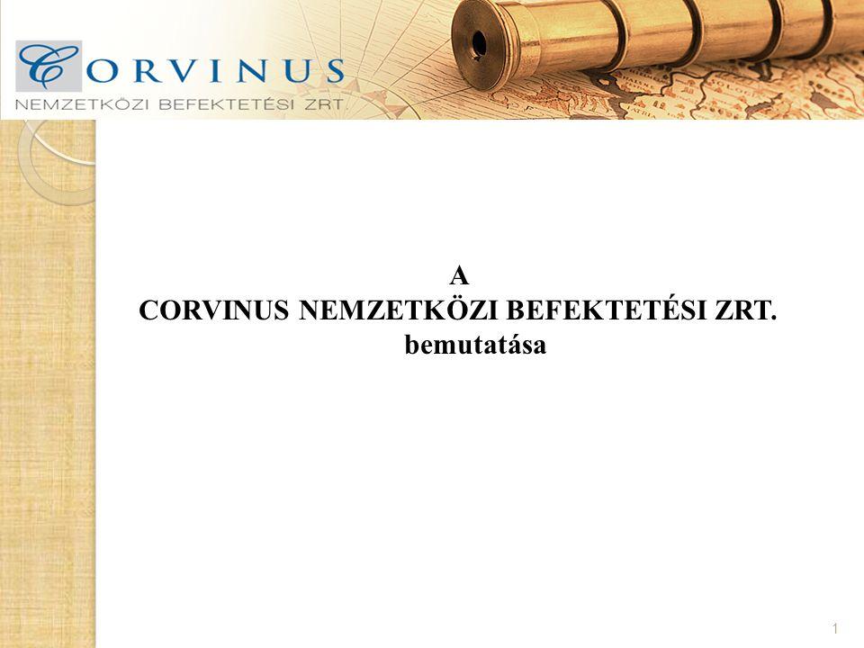CORVINUS NEMZETKÖZI BEFEKTETÉSI ZRT. bemutatása