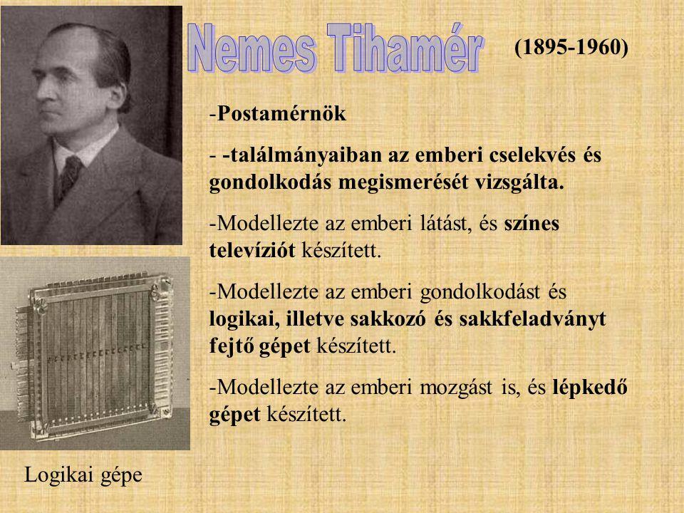 Nemes Tihamér (1895-1960) Postamérnök