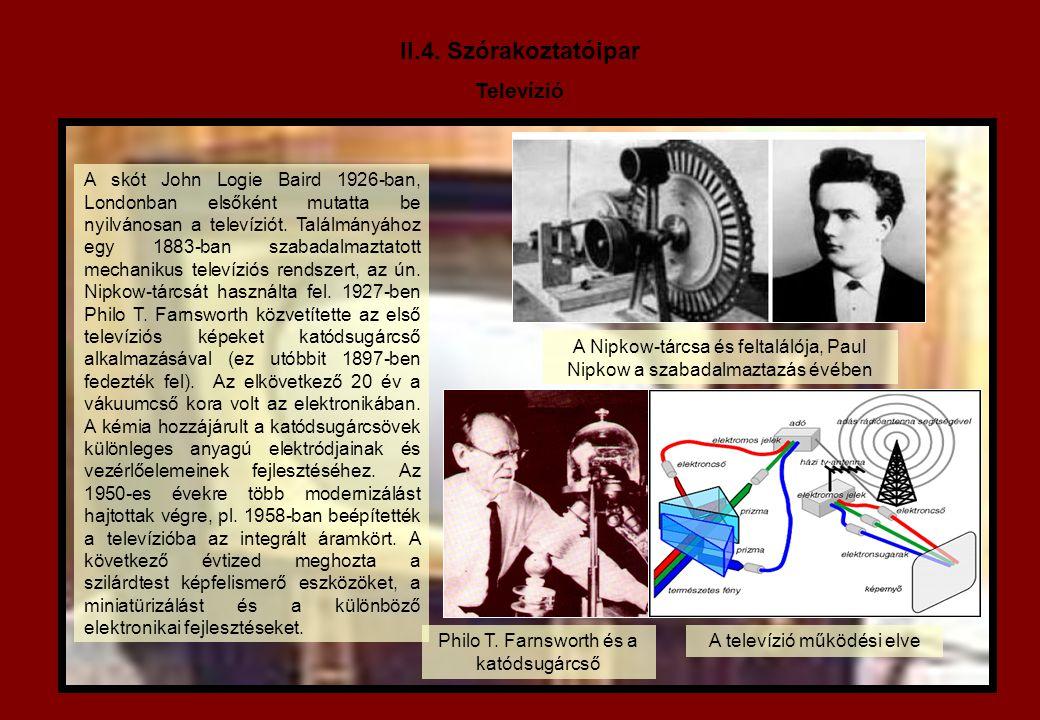II.4. Szórakoztatóipar Televízió