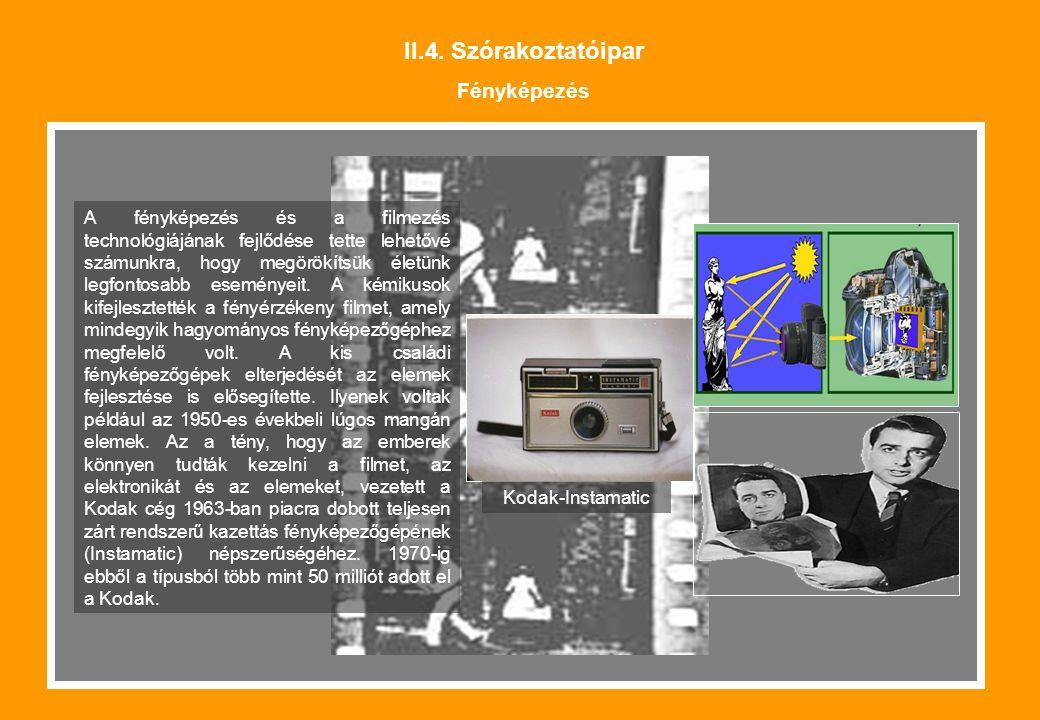 II.4. Szórakoztatóipar Fényképezés