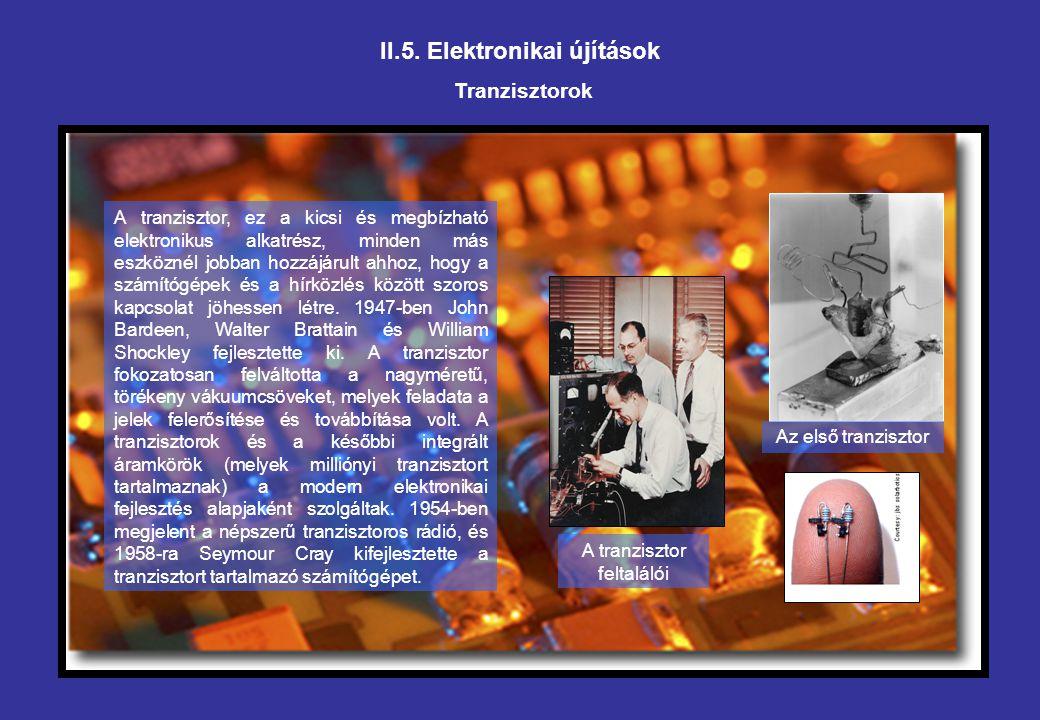 II.5. Elektronikai újítások