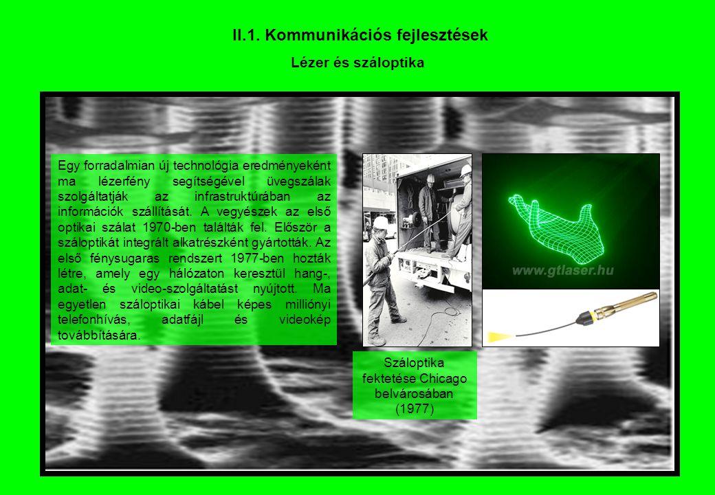 II.1. Kommunikációs fejlesztések
