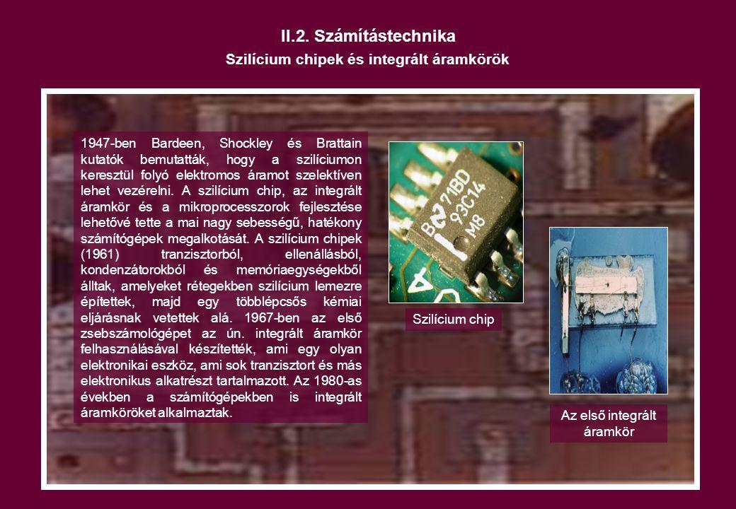 Szilícium chipek és integrált áramkörök
