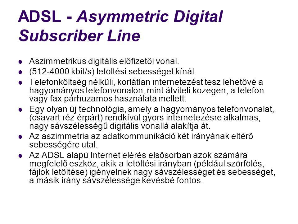 ADSL - Asymmetric Digital Subscriber Line