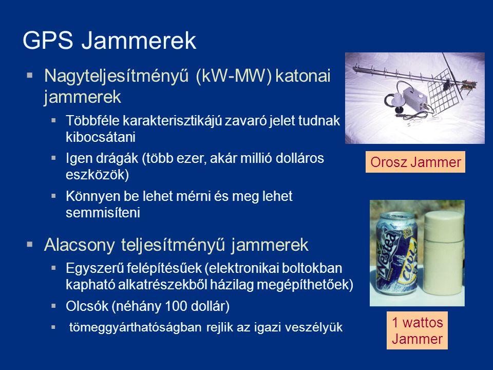 GPS Jammerek Nagyteljesítményű (kW-MW) katonai jammerek