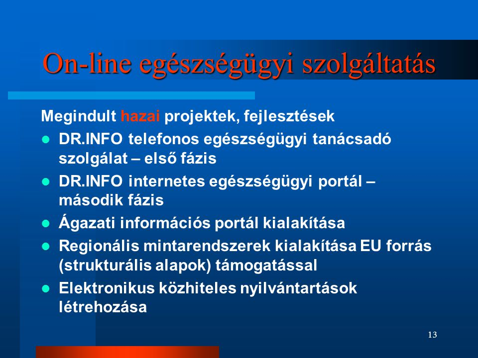 On-line egészségügyi szolgáltatás