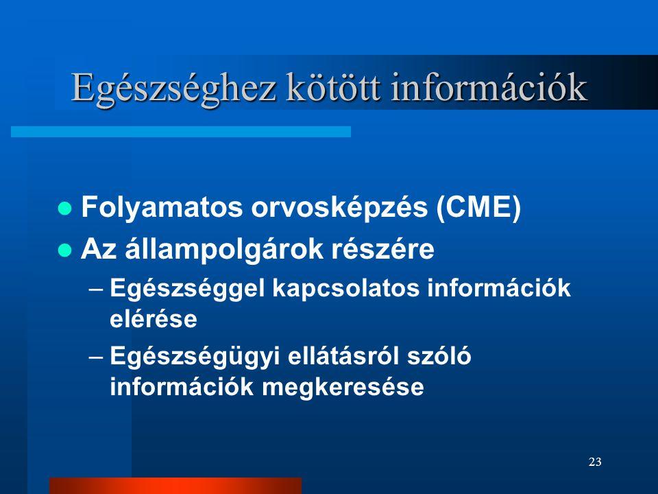 Egészséghez kötött információk