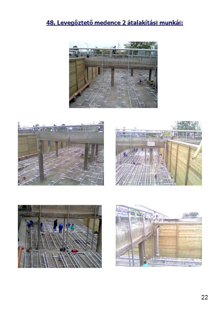48, Levegőztető medence 2 átalakítási munkái:
