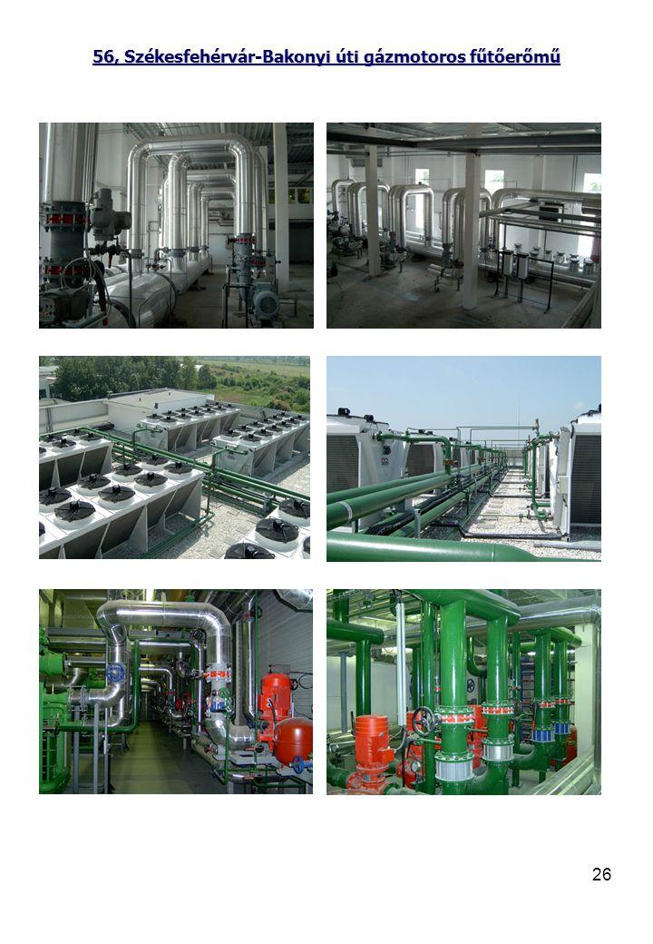 56, Székesfehérvár-Bakonyi úti gázmotoros fűtőerőmű