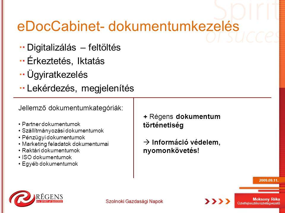 eDocCabinet- dokumentumkezelés