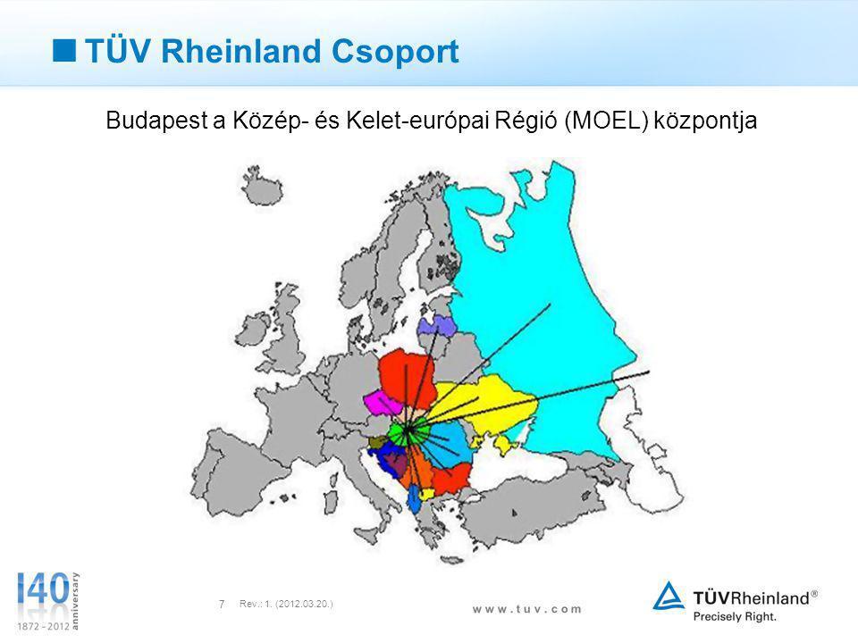 Budapest a Közép- és Kelet-európai Régió (MOEL) központja