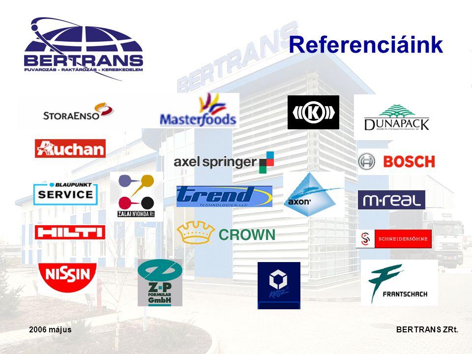Referenciáink 2006 május BERTRANS ZRt.