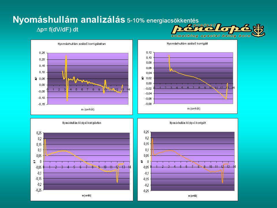 Nyomáshullám analizálás 5-10% energiacsökkentés