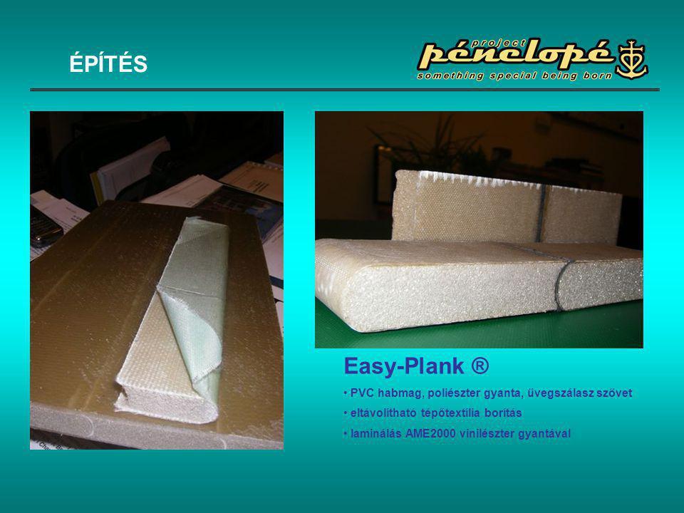 ÉPÍTÉS Easy-Plank ® PVC habmag, poliészter gyanta, üvegszálasz szövet