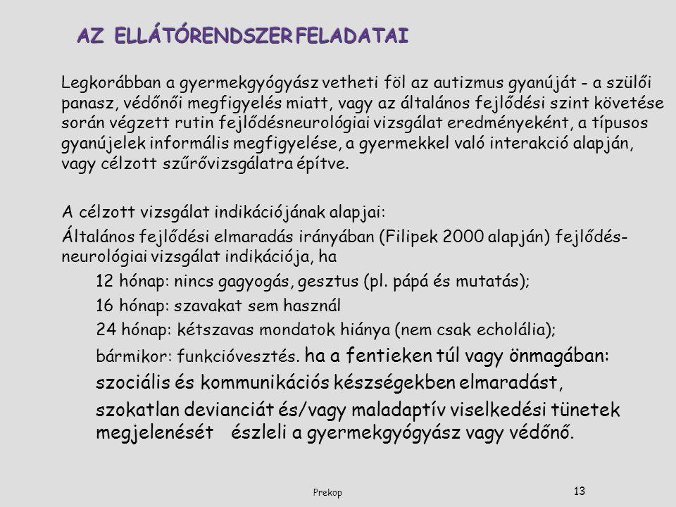 AZ ELLÁTÓRENDSZER FELADATAI