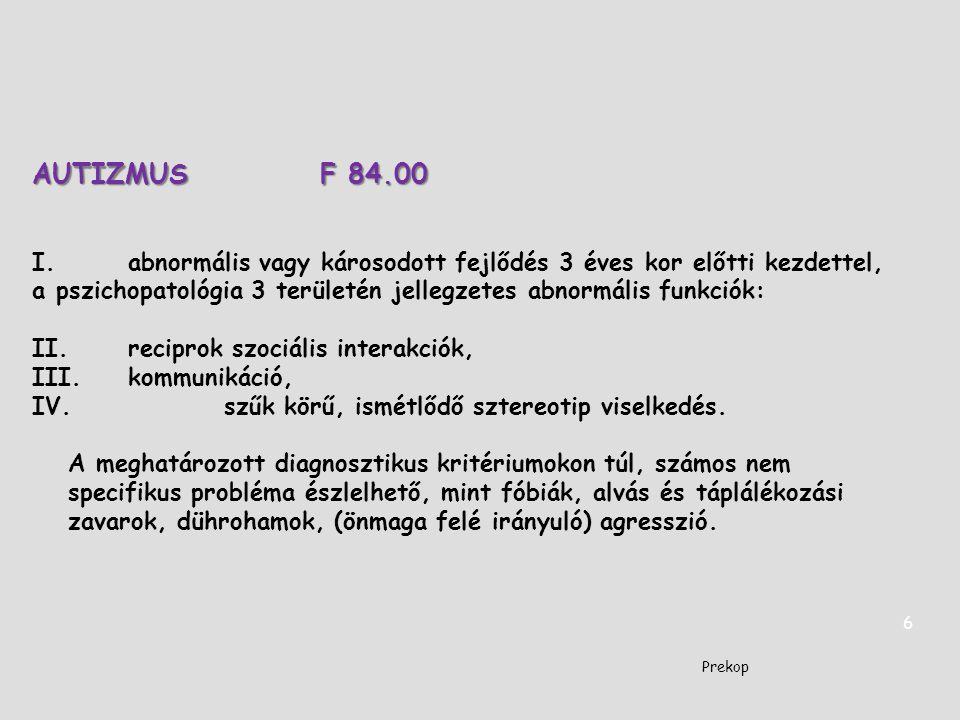 AUTIZMUS F 84.00