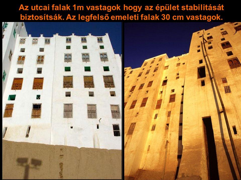 Az utcai falak 1m vastagok hogy az épület stabilitását biztosítsák