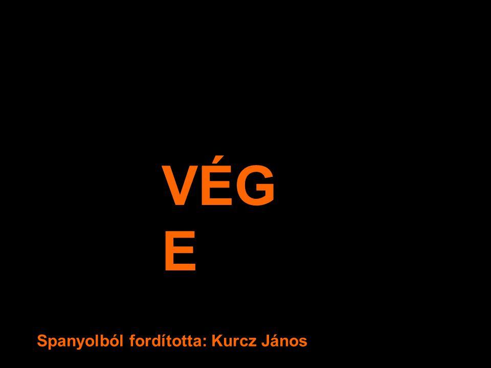 VÉGE Spanyolból fordította: Kurcz János