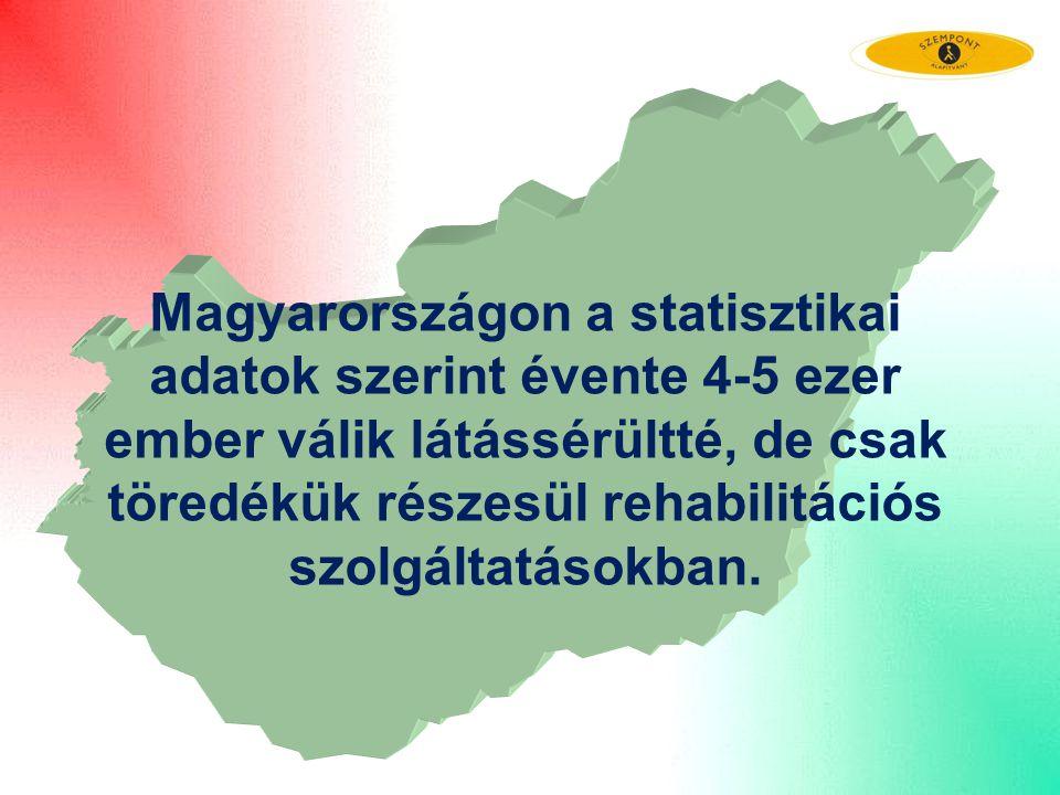 Magyarországon a statisztikai adatok szerint évente 4-5 ezer ember válik látássérültté, de csak töredékük részesül rehabilitációs szolgáltatásokban.