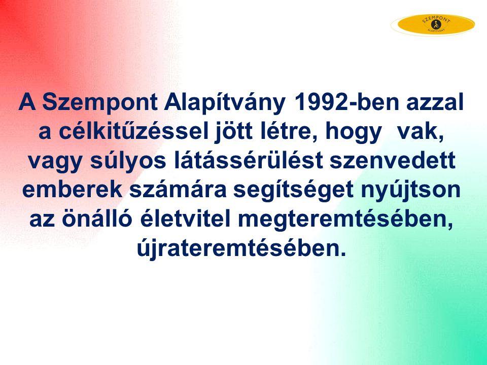 A Szempont Alapítvány 1992-ben azzal a célkitűzéssel jött létre, hogy vak, vagy súlyos látássérülést szenvedett emberek számára segítséget nyújtson az önálló életvitel megteremtésében, újrateremtésében.