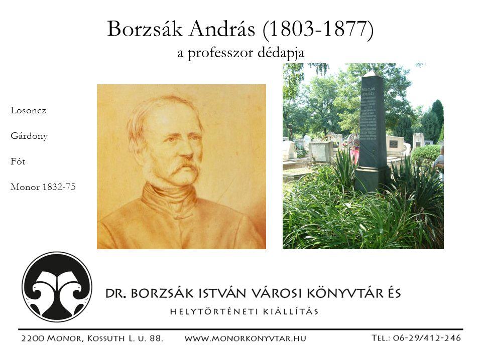 Borzsák András (1803-1877) a professzor dédapja