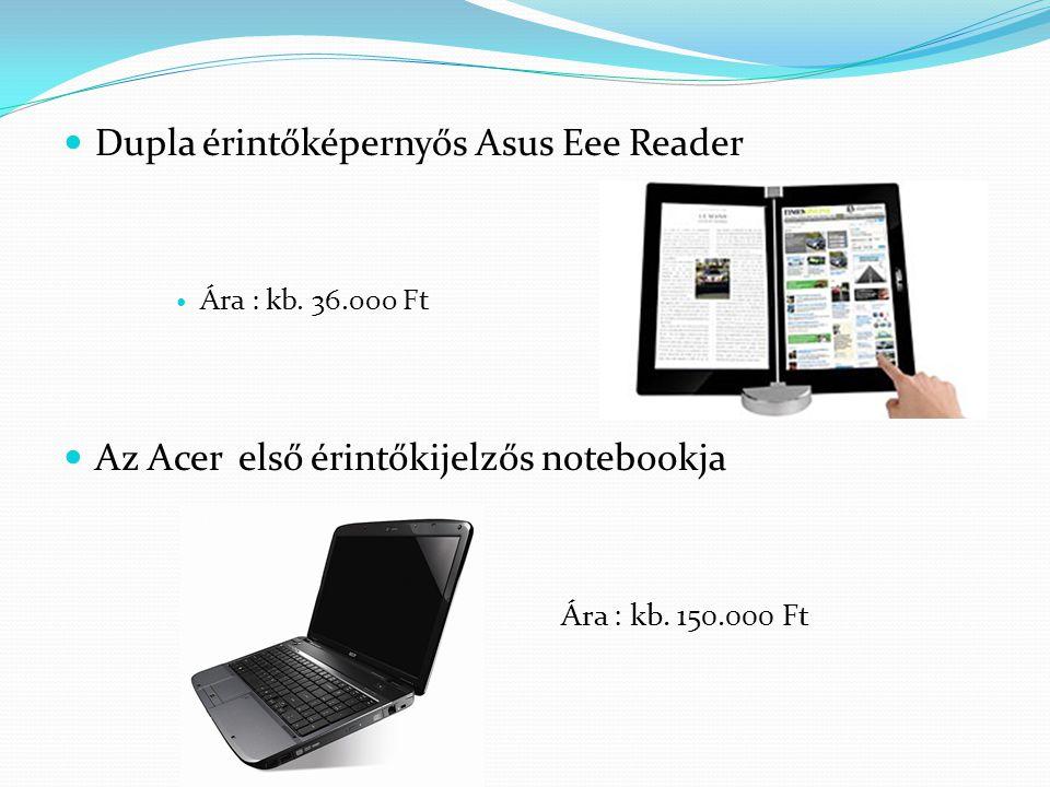 Dupla érintőképernyős Asus Eee Reader