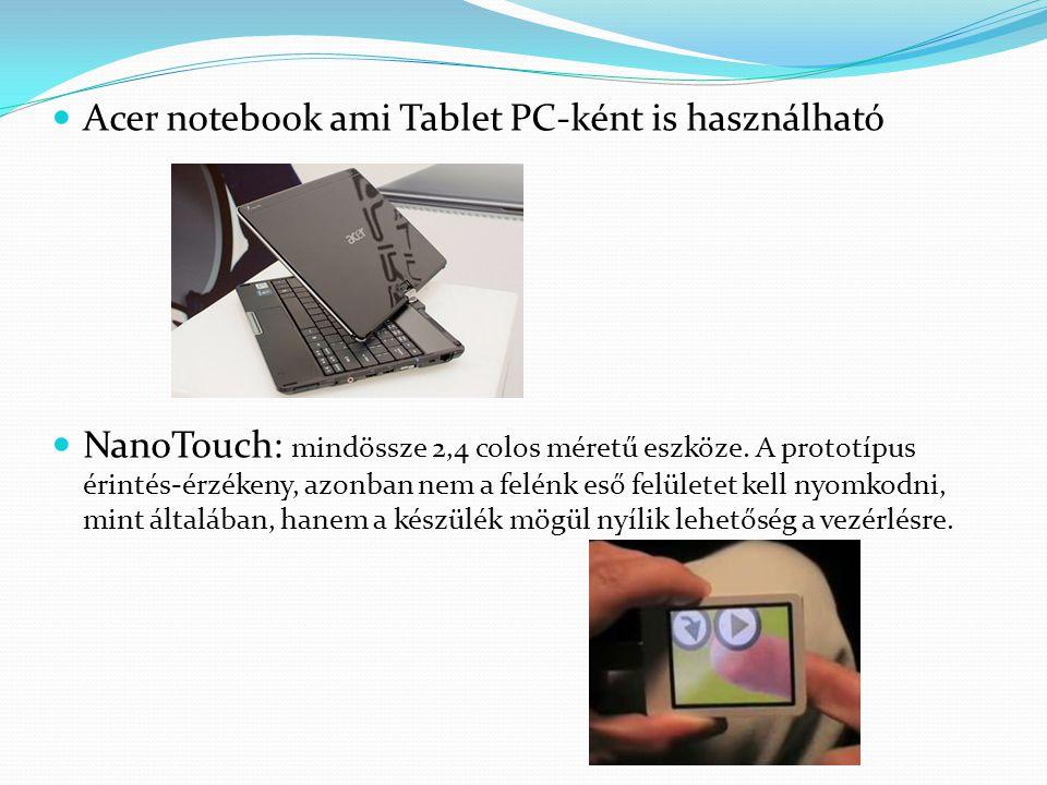 Acer notebook ami Tablet PC-ként is használható