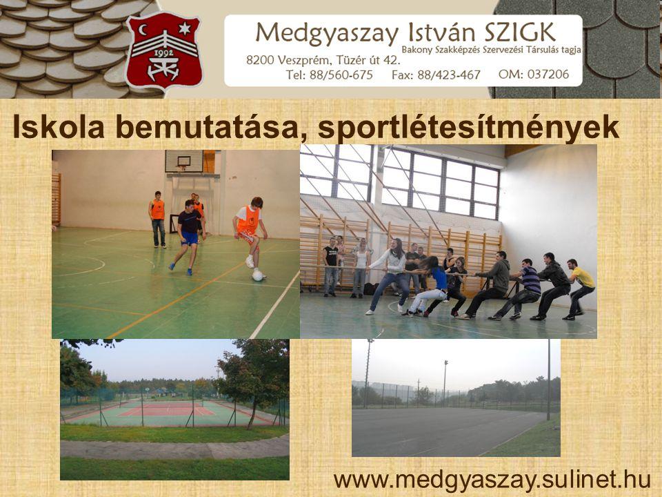 Iskola bemutatása, sportlétesítmények