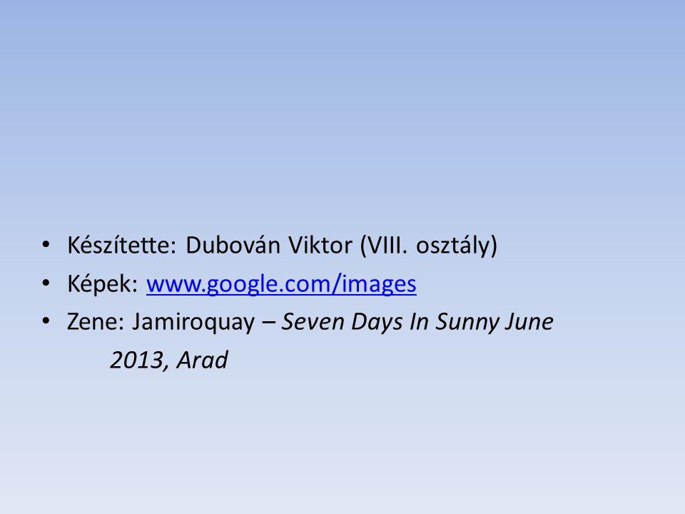 Készítette: Dubován Viktor (VIII. osztály)