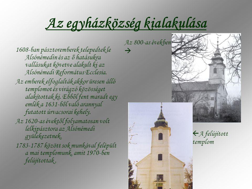 Az egyházközség kialakulása