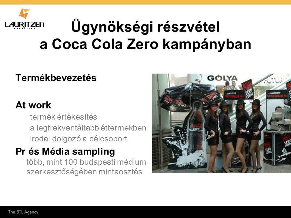 Ügynökségi részvétel a Coca Cola Zero kampányban