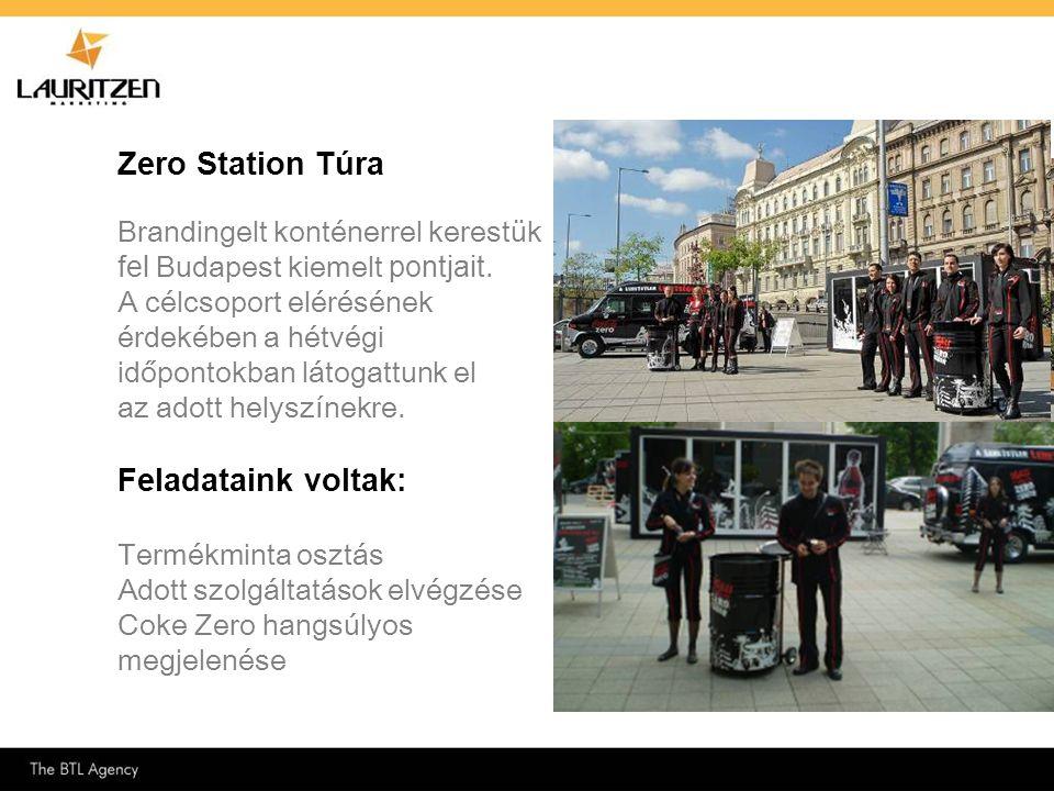 Zero Station Túra Feladataink voltak: