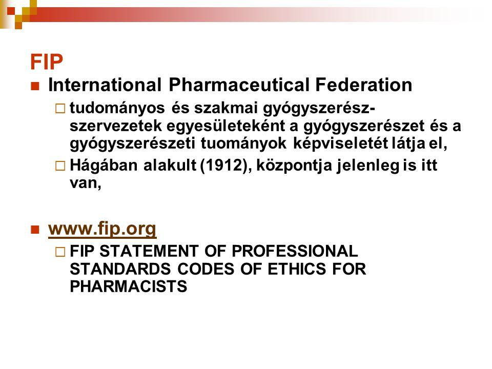 FIP International Pharmaceutical Federation www.fip.org