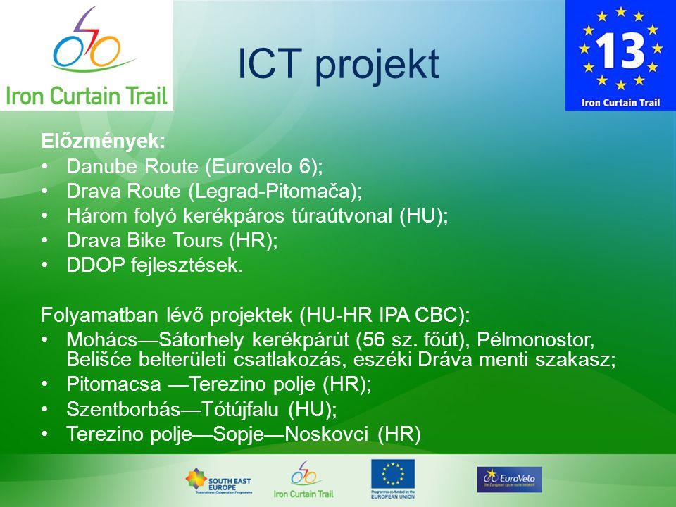 ICT projekt Előzmények: Danube Route (Eurovelo 6);
