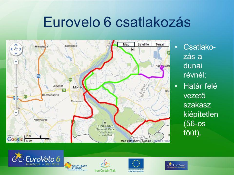 Eurovelo 6 csatlakozás Csatlako-zás a dunai révnél;