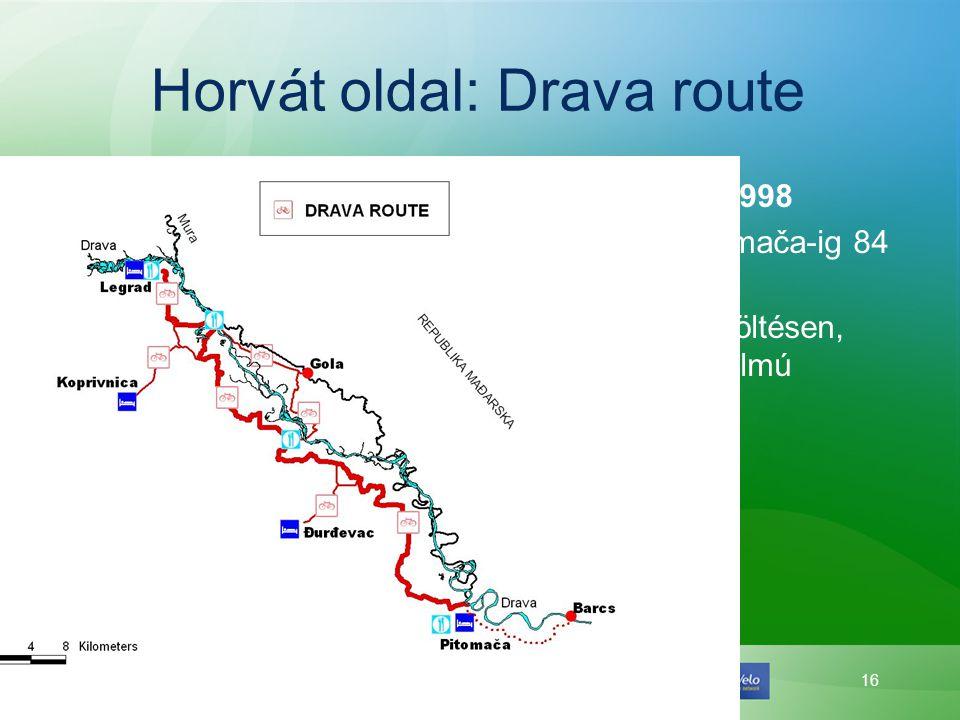 Horvát oldal: Drava route