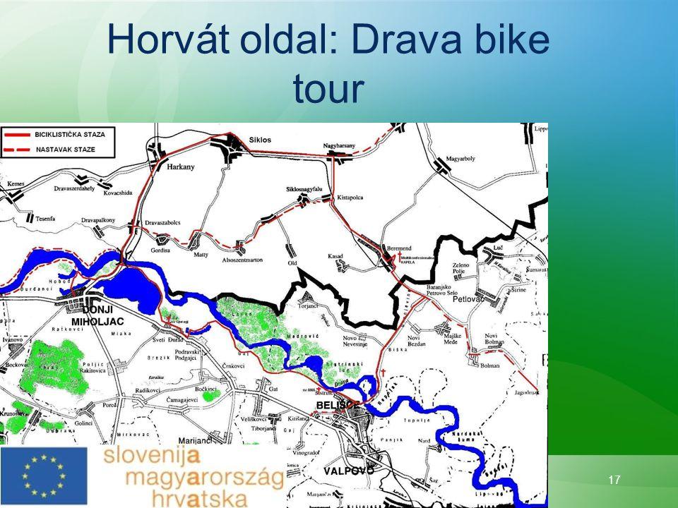 Horvát oldal: Drava bike tour