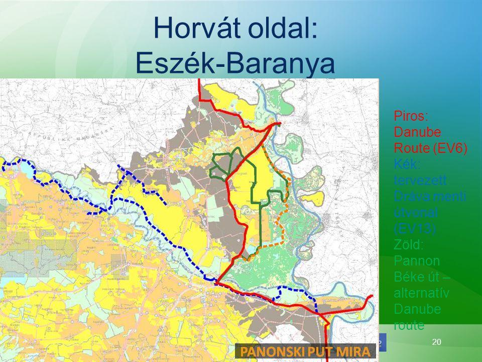 Horvát oldal: Eszék-Baranya