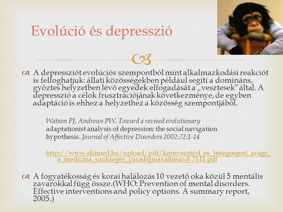 Evolúció és depresszió
