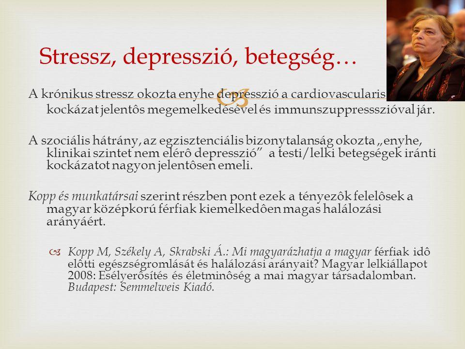 Stressz, depresszió, betegség…
